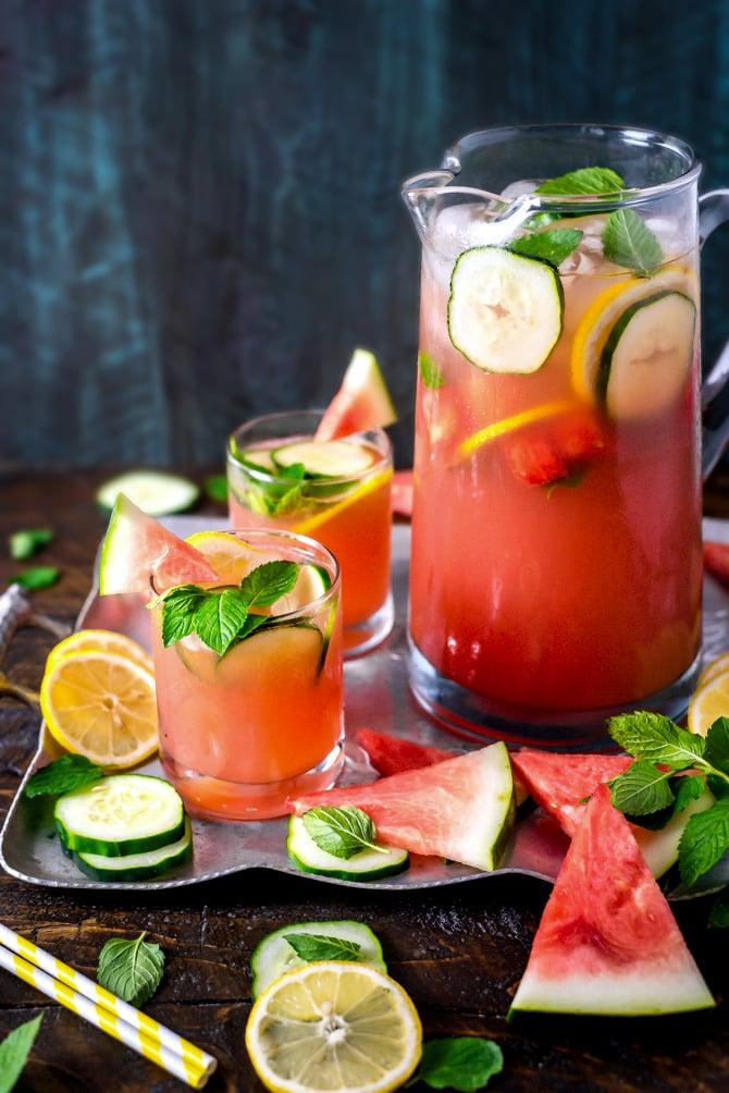 Boozy Watermelon Mint Lemonade
