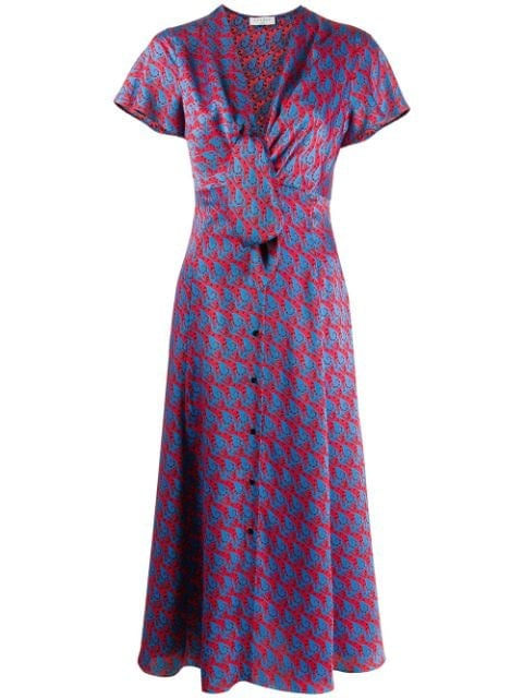 Sandro Knot-Detail Midi Dress