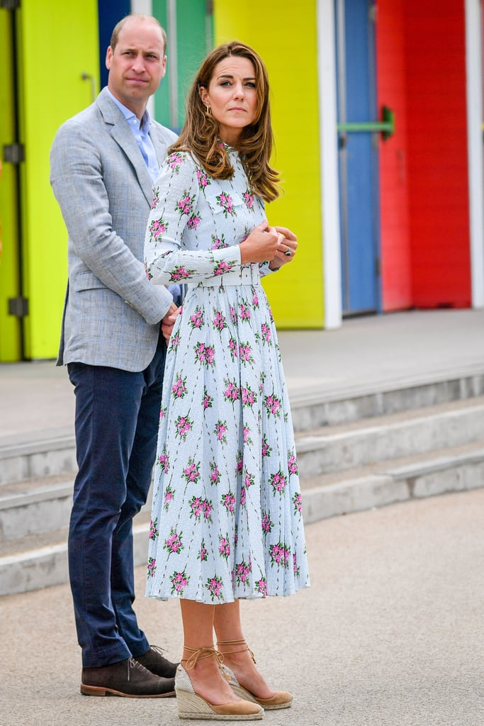 Kate Middleton Wearing Her Emilia Wickstead Dress on Barry Island, South Wales