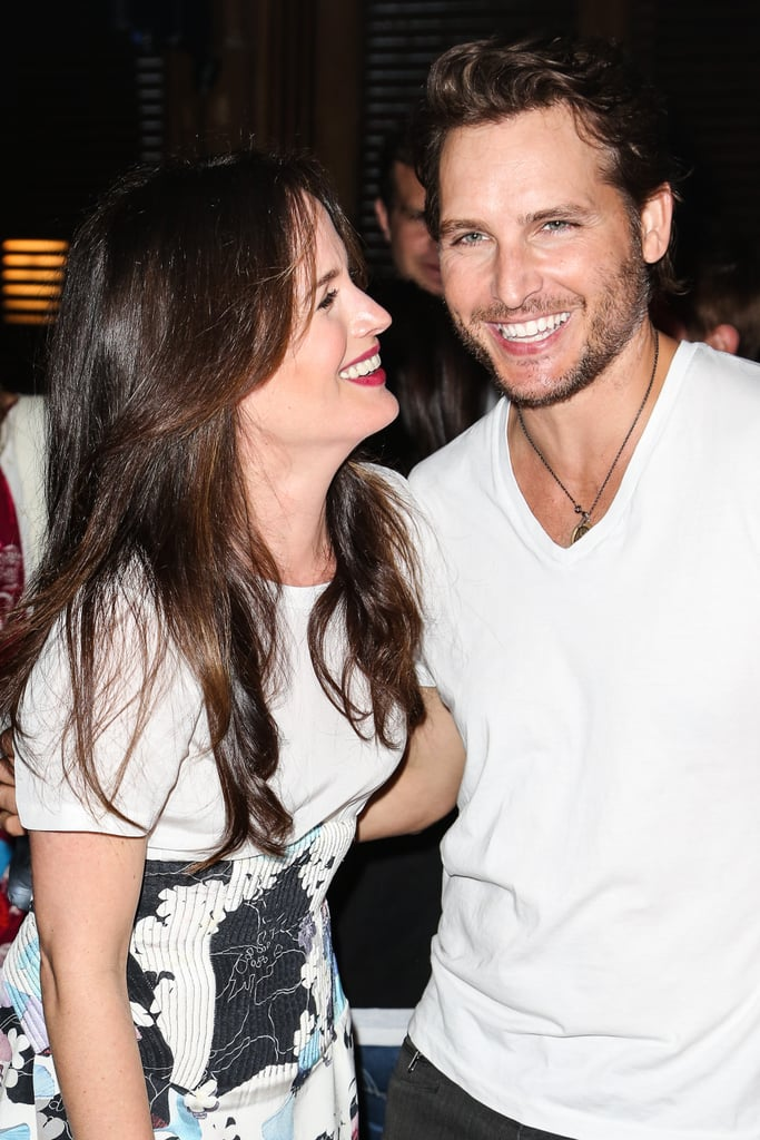 Elizabeth Reaser posed with Peter Facinelli at the Breaking Dawn Part 2 party at Comic-Con.