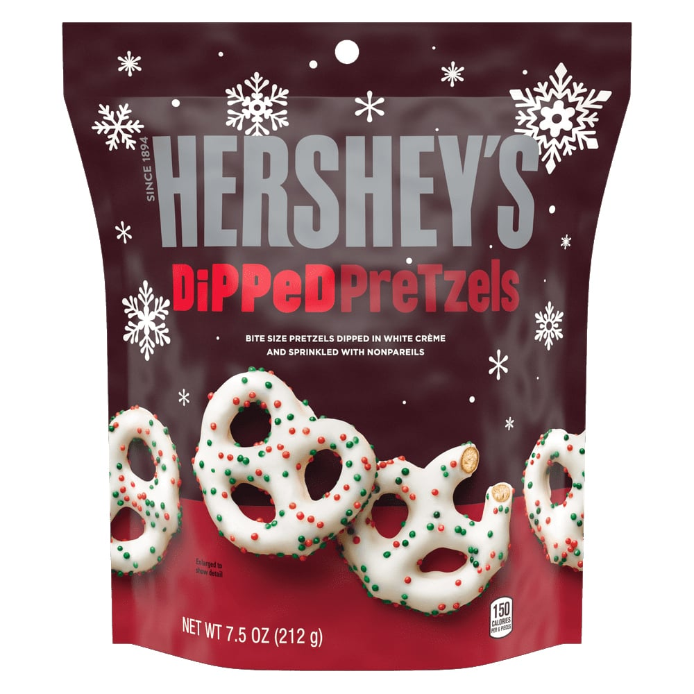 Hershey's White Crème Dipped Pretzels With Nonpareils ($3)
