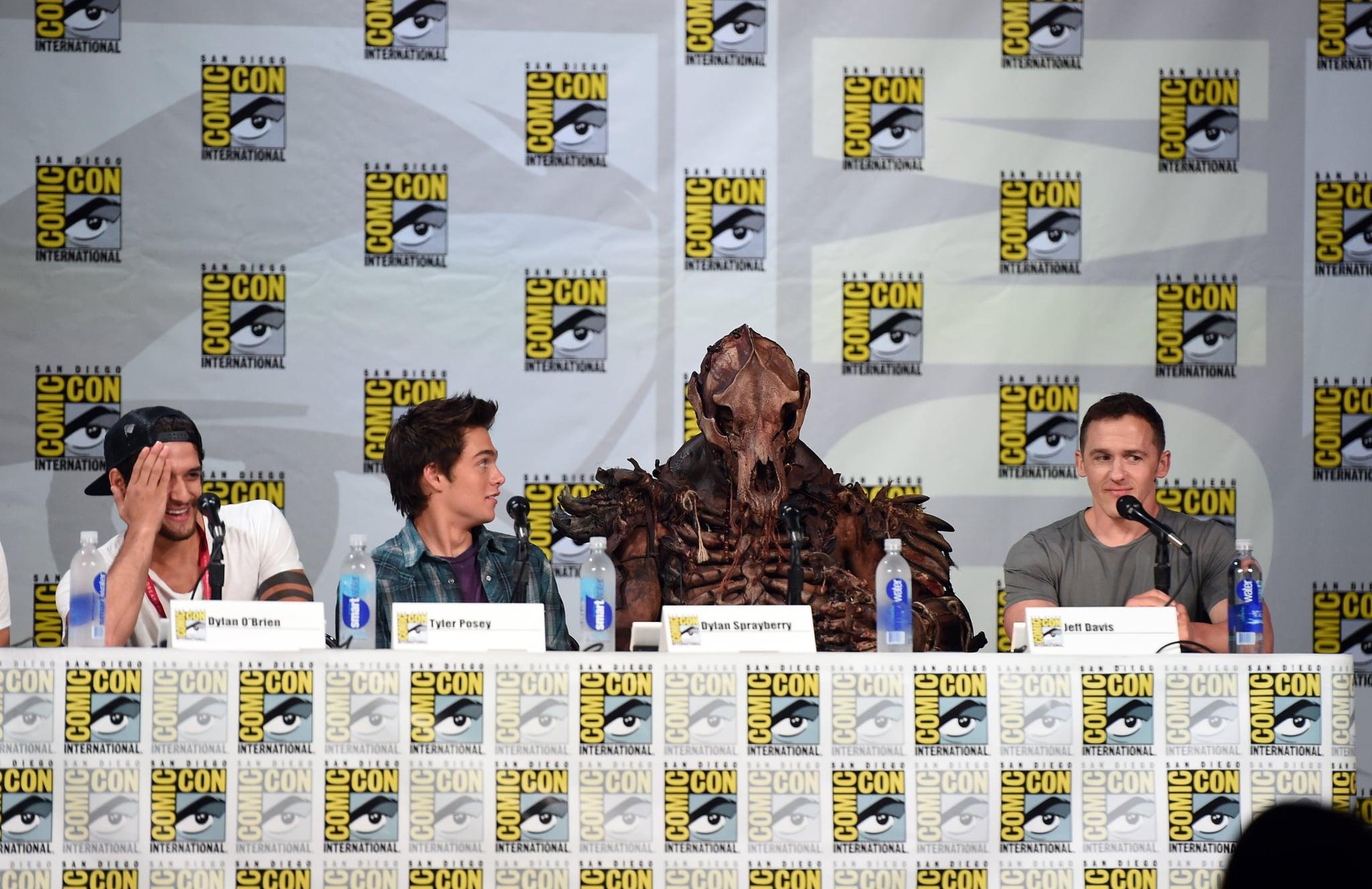 The Teen Wolf panel had John Duff in costume.