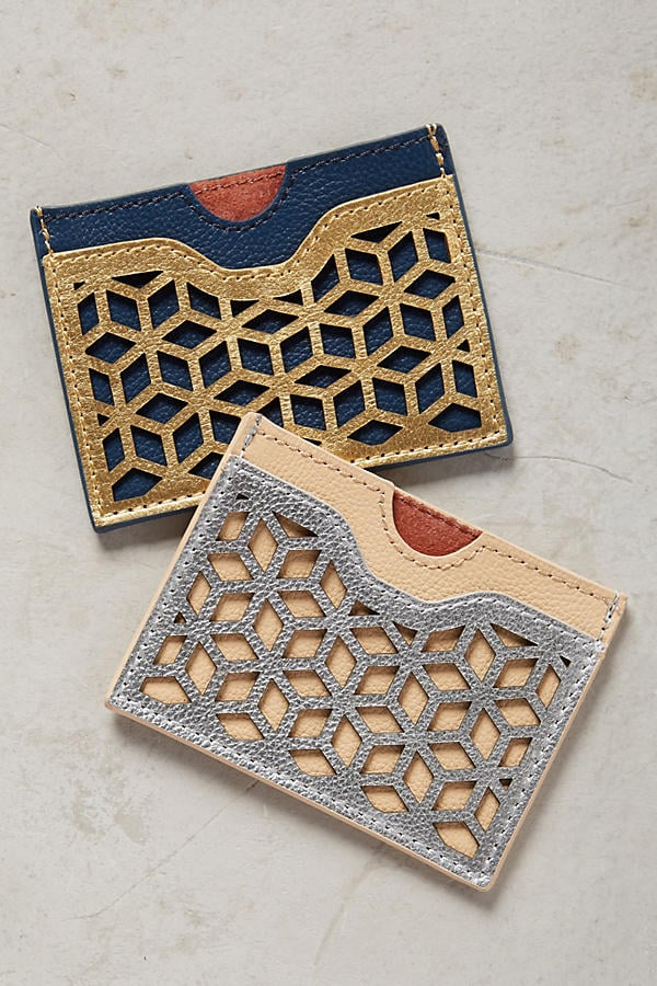 Lasercut Leather Card Holder ($24)