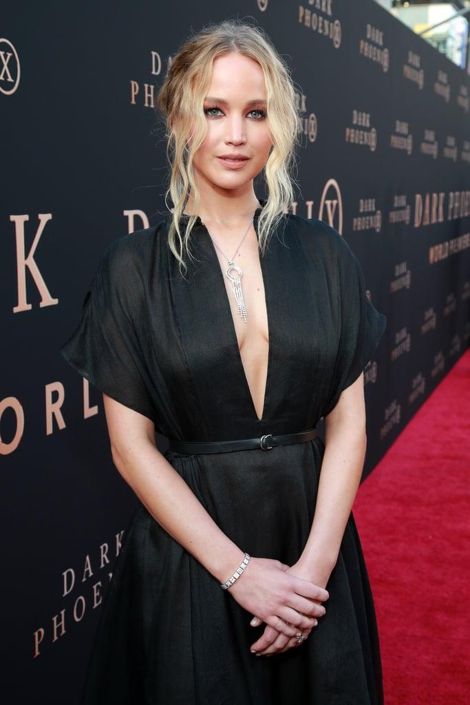 Jennifer Lawrence Black Dress At X Men Dark Phoenix