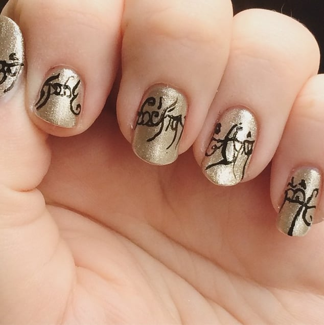 Lord of the Rings | Nerdy Nail Art Ideas | POPSUGAR Tech Photo 7
