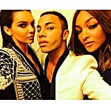 And we knew something big was going on since Olivier Rousteing was there.