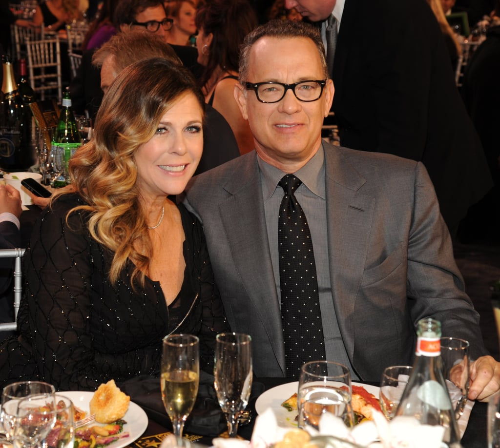 Rita Wilson and Tom Hanks posed for a picture during the Critics' Choice Awards.