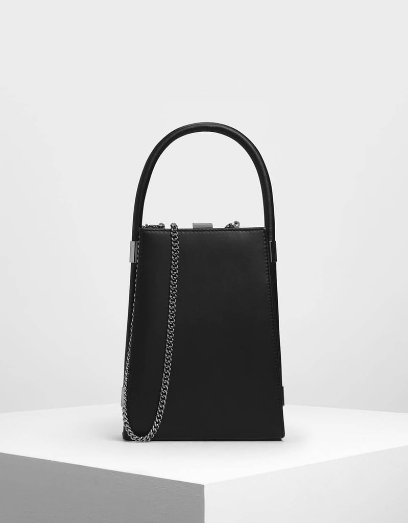 Charles & Keith Leather Cow Bell Bag