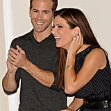 She and Ryan Reynolds attended a photocall for their romantic comedy The Proposal in June 2009.
