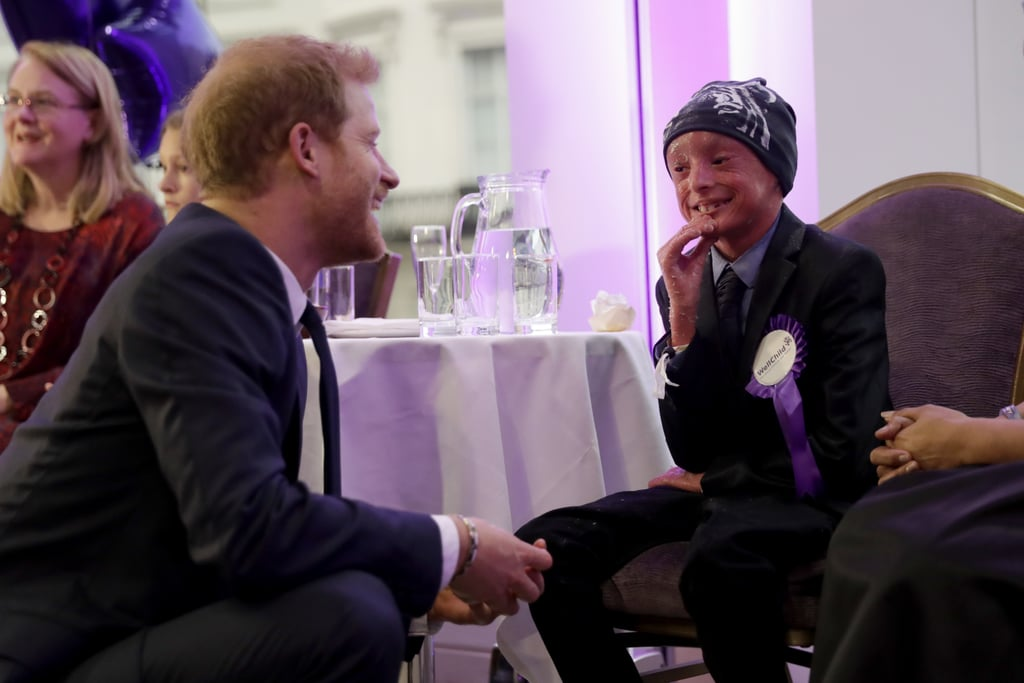 "Yes, Prince Harry is adorable with dogs, and we love seeing him with Meghan Markle, but nothing warms our hearts more than when he interacts with kids. The royal attended the annual WellChild Awards in London, where he met with sick children and their families. The event, which marked 10 years of Harry's patronage of the charity, honored courageous children living with serious illnesses and the healthcare professionals who care for them. ""This is my 10th year as WellChild's patron and of course I'm honored to be here at another awards ceremony celebrating the powerful work of this organization,"" Harry said in his speech. Harry's adorable outing comes on the heels of a busy couple of weeks for the royal. After attending the 100 Women in Finance Gala, Harry accepted the legacy award on behalf of the late Princess Diana at the Attitude Awards and linked up with Prince William and Kate Middleton to meet with the cast of Paddington 2 at London's Paddington Station. And that's just the tip of the iceberg! Take a look back at his busy year."