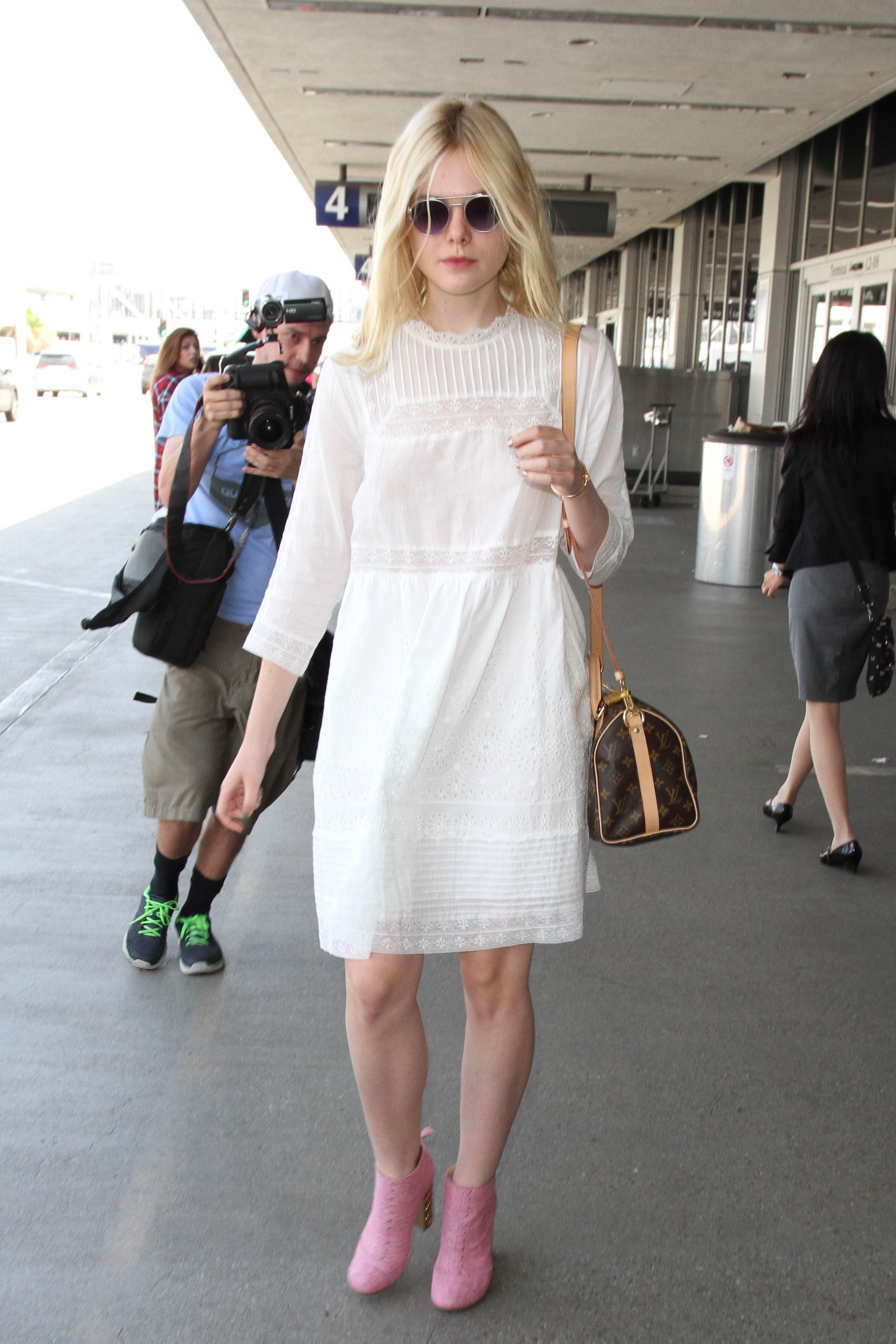 white dress with booties