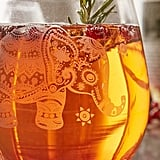 Urban Outfitters Etched Elephant Stemless Wine Glass ($10)