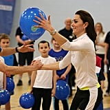 Kate Middleton Shows Off Her Sporty Side While Visiting a High School in Scotland