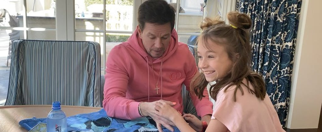 Mark Wahlberg's Daughter Does His Nails and Makeup | Video