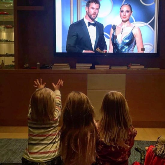Chris Hemsworth's Kids Watching the Golden Globes Instagram