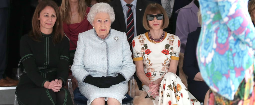 Queen Elizabeth at Fashion Week 2018