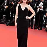 Julianne wore a Saint Laurent column dress to the screening of Yomeddine.