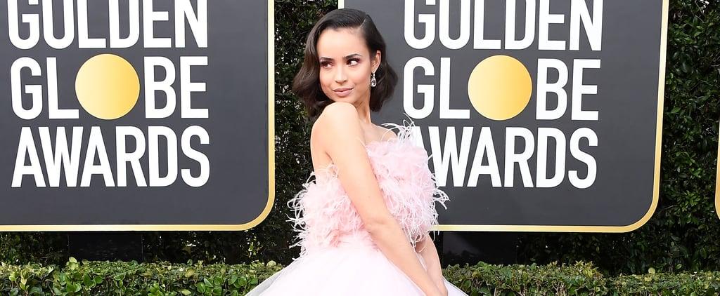 Sofia Carson Giambattista Valli Gown at Golden Globes 2020