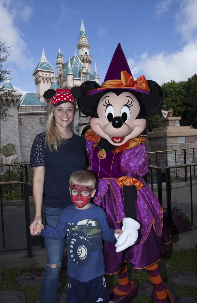 Reese Witherspoon and Tennessee Toth are already getting into the Halloween spirit! On Monday, Reese took her 4-year-old son to Disneyland in Anaheim, CA, to celebrate Halloween Time with Minnie Mouse. In a cute snapshot from the event, Tennessee is shown sporting some adorable Spider-Man face paint as he flashes a smile while holding on to his mom's hand. Reese also got in on the fun and wore a red polka-dot Minnie Mouse hat. Reese's Disneyland trip comes on the heels of a busy week for the star. In addition to linking up with Jennifer Garner and Halle Berry at a Tiffany & Co. store event in Beverly Hills on Thursday, the mother of three showed off her philanthropic side when she stepped out at the 14th annual LA County Walk to Defeat ALS on Sunday. We'll definitely have to add this to the family's growing list of sweet moments together.        Related:                                                                                                           Over 50 Fun-Filled Photos of Celebrities at Disneyland