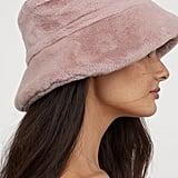 H&M Faux Fur Bucket Hat
