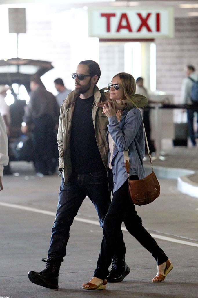 Kate Bosworth and Michael Polish crossed a street together.