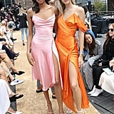 Cindy Bruna and Devon Windsor at the Jonathan Simkhai New York Fashion Week Show