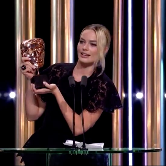 Margot Robbie Reads Brad Pitt's Speech at 2020 BAFTAs Video