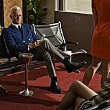 Roger Sterling (John Slattery) relaxes while waiting for his flight.