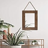 Emaison Rustic Wood Hanging Wall Mirror