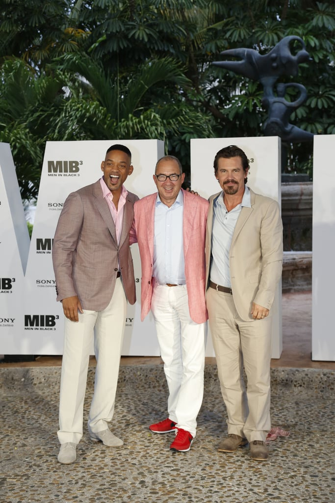 Will Smith, producer Barry Sonnenfeld, and Josh Brolin came out to promote MIB3.