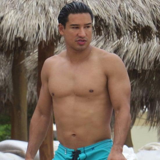 Shirtless Mario Lopez in Puerto Vallarta