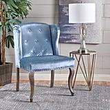 Adelle Wingback Velvet Chair