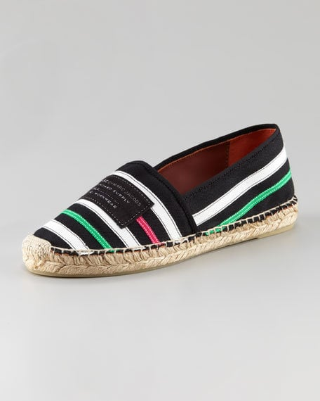 These striped espadrilles are perfect for wearing with white jeans.  Marc by Marc Jacobs Striped Slip-On Espadrilles ($165)