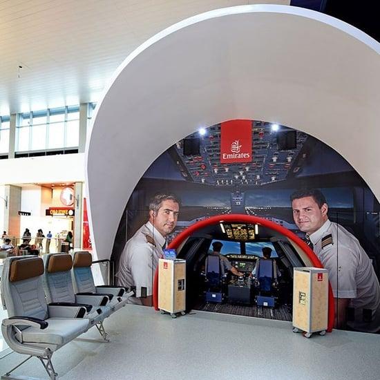 طيران الإمارات تطلق تجربة طائرة الإمارات A380 في دبي مول2019