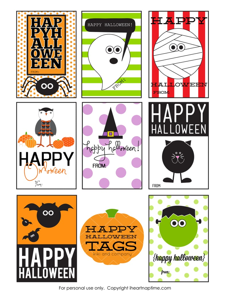 photo about Printable Halloween Tags named Free of charge Printable Halloween Reward Tags POPSUGAR Sensible Dwelling