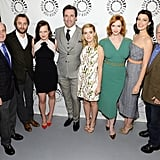 The cast posed for a group photo with Mad Men creator Matthew Weiner.