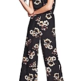 1.STATE Mirage Wrap Front Flounce-Sleeve Jumpsuit