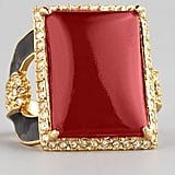 If any cocktail ring screams holiday, it's Rachel Zoe's red quartz ring ($165). We especially love the side view.