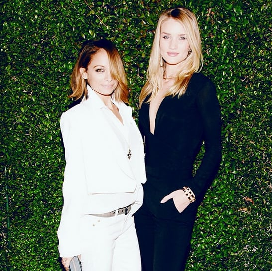 Nicole Richie and Rosie Huntington-Whiteley were in full contrast while at Chloé's LA fashion show. Source: Instagram user nicolerichie