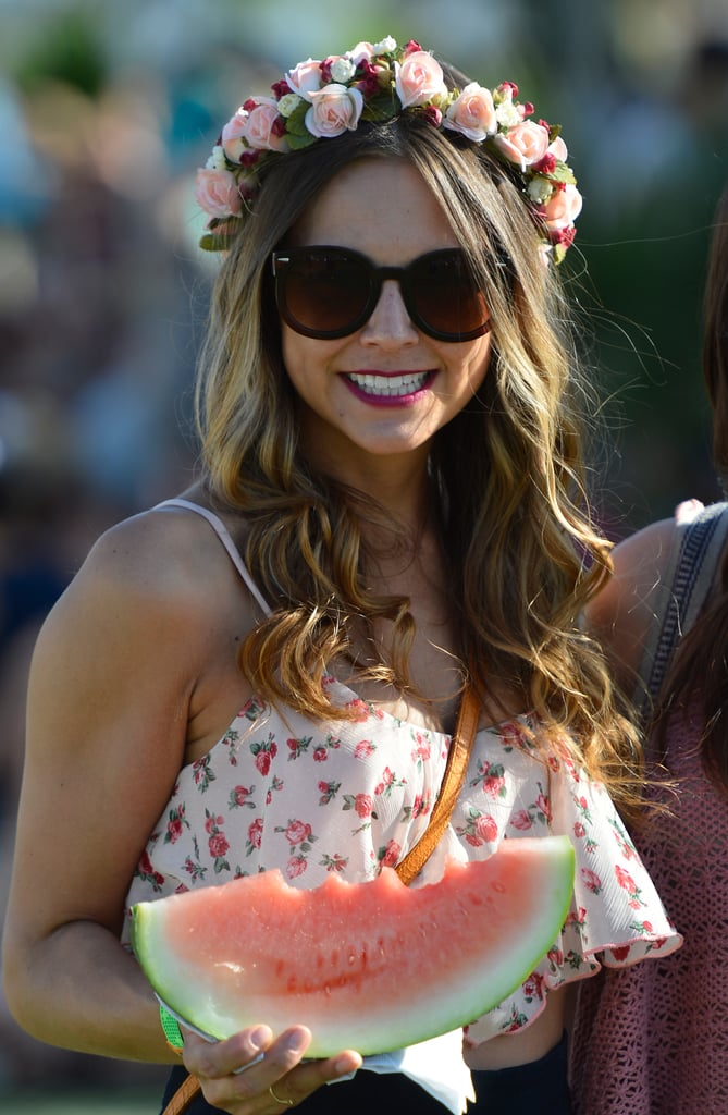 Coachella is happening again this weekend, and this flower-child festival style shot was the most shared among our Pinterest following this week.