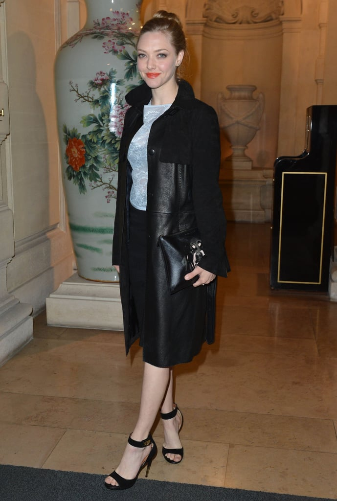 Amanda Seyfried arrived at the CR Fashion Book Issue 2 launch party in Paris on Tuesday night.