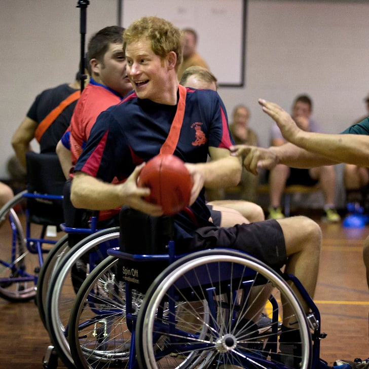 Pictures of Prince Harry Playing AFL Wheelchair in Australia