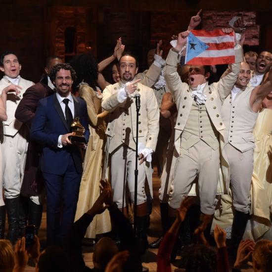Hamilton Cast Waves Puerto Rican Flag at Grammys 2016