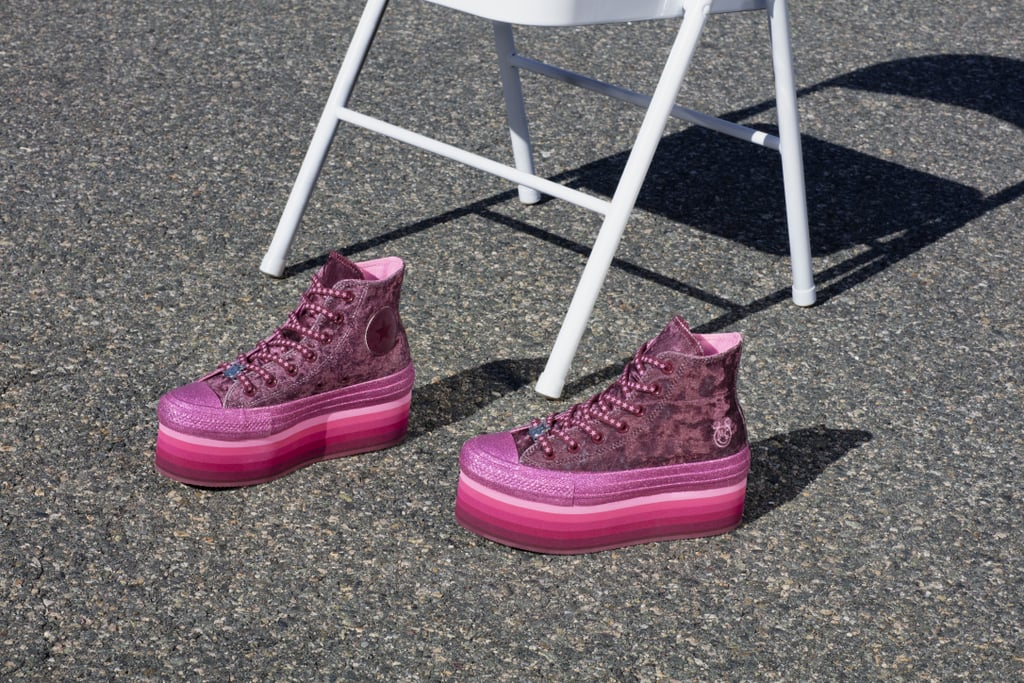 367dd9092d83 Converse x Miley Cyrus Chuck Taylor All Star Platform Velvet High Top ( 95)