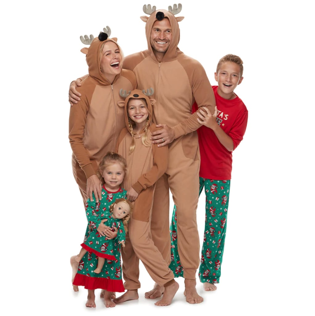 Jammies For Your Families Santa   Reindeer Matching Pajamas ... fbaa67360