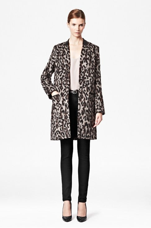 For a posh take on leopard print, try this French Connection Teddy Leopard Coat ($298) with your workwear.