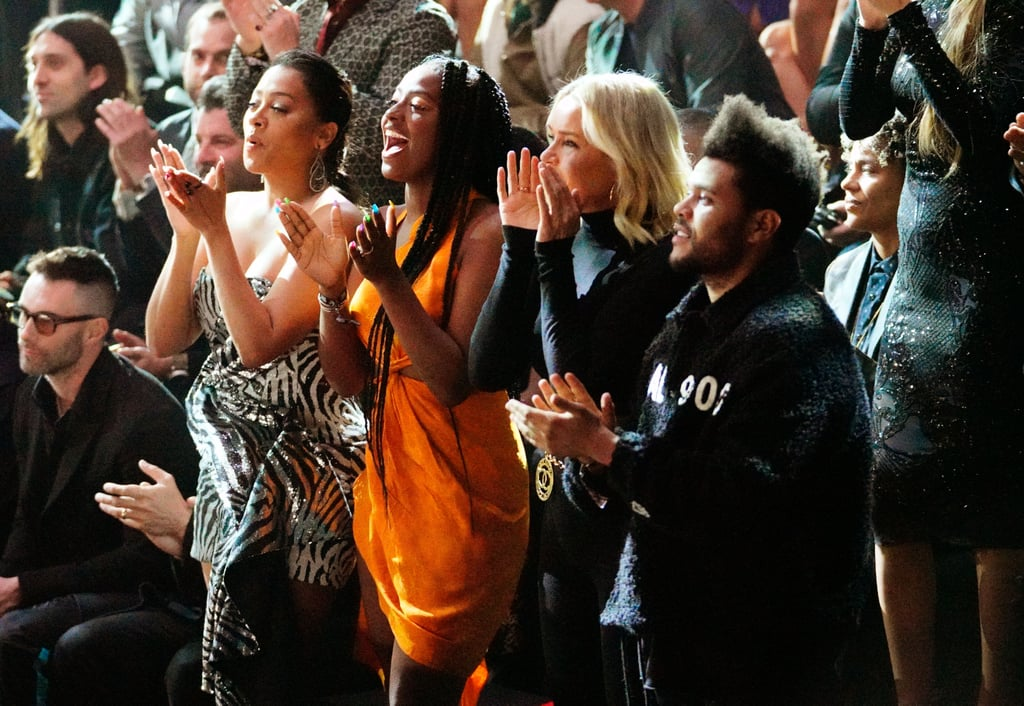 Bella Hadid returned to the runway for the Victoria's Secret Fashion Show in NYC on Thursday, and you better believe The Weeknd was front and center cheering her on. Despite skipping the red carpet, the singer popped up inside and was spotted sitting front row at the show with Bella's mom, Yolanda Hadid. He also mingled with Trevor Noah and Bella's sister Gigi. After the show, Bella and The Weeknd celebrated by hitting the town with Halsey and Luka Sabbat. Of course, this isn't the first time The Weeknd has watched his girlfriend work her magic on the runway. Back in 2016, The Weeknd performed at the show, and he practically serenaded Bella as she hit the VS runway for the very first time with Gigi. At the time, Bella and The Weeknd had just broken up after a year and a half together, but they ended up reconciling this past Summer. Funny how things work out, huh?      Related:                                                                                                           Girls Just Wanna Have Fun: The Best Candid Moments From the Victoria's Secret Fashion Show