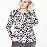 Charter Club Animal Print Cashmere Sweater