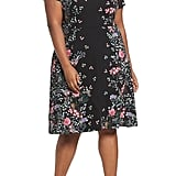 Adrianna Papell Print Scuba Knit Fit & Flare Dress