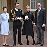 Princess Anne and Husband Timothy Laurence With Zara Phillips and Mike Tindall at an Award Ceremony in London in 2007